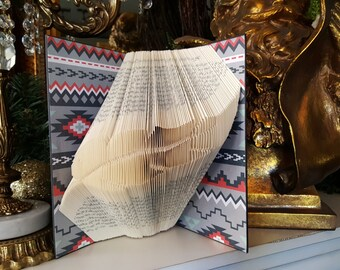 Feather Folded Book, Feather, Native American Art, Cherokee Art, Feather Art, Feather, Indian Symbol, Native American Symbol