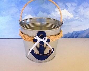 Flower Girl Basket- Nautical Wedding- Beach Wedding/Navy Wedding/Coast Guard wedding/Marine wedding/destination wedding