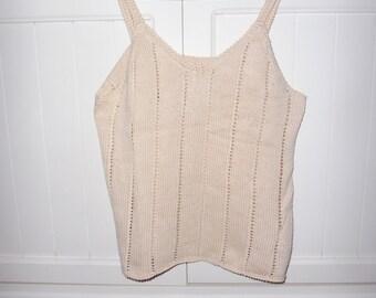 Top in cotton mesh size 42-44 EN - 1970s