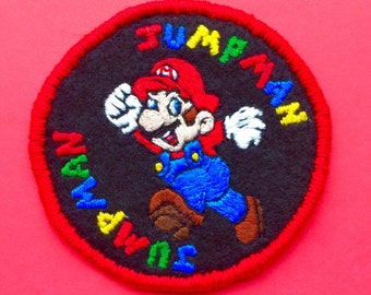Jumpman Mario Bros Embroidered Patch