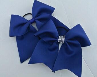 Softball Bows/Royal Blue Softball Bows/Royal Blue Cheer Bows/Royal Blue Soccer Bows/Royal Blue Volleyball Bows/ Royal Blue Solid Color Bows