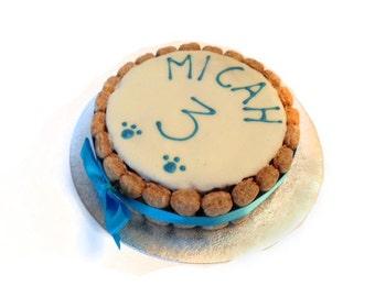 """Dog Birthday Cake 5"""" Personalised- Dog Treats- Homemade Cake"""