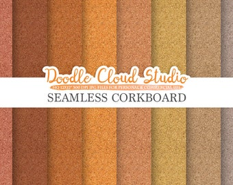 Seamless Corkboard digital paper, Cork Board Backgrounds, Printable Corkboard Paper, Real Cork textures, Instant Download, Commercial Use