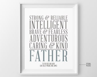 Fathers Day Gift for Dad Gift for Father Gift from Kids Personalized Christmas Gift for Dad Birthday Gift Fathers Birthday Gift for Dad