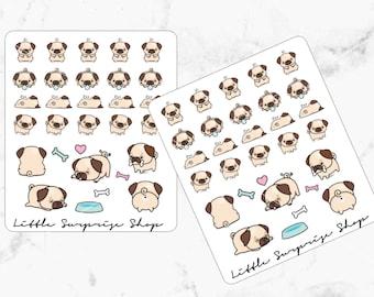 Kawaii Pug Stickers