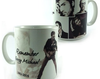 New Remember George Michael 1963-2016 Mug Cup 11oz Tribute Remember Rest In Peace RIP Music Fan Lover Gift Present Memorabilia