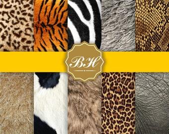 Animal Skin Digital Paper, Animal Fur Backgrounds, Animal Skin Textures, Animal Prints Background, Scrapbooking Paper, Instant Download