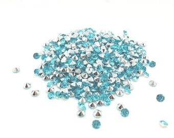 520 light blue 4mm acrylic rhinestones