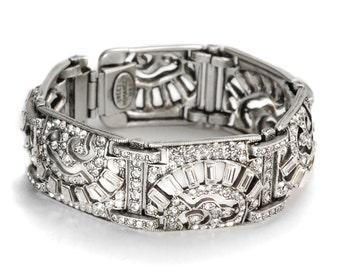 Art Deco Bracelet, Great Gatsby, Flapper Bracelet, Roaring Twenties, 1930s Bracelet, Art Deco Jewelry, 1920s Wedding, Bridal, Bride BR112