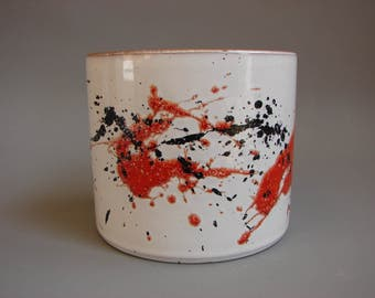 Rare Marei planter Jackson Pollock style abstract vintage German ceramics