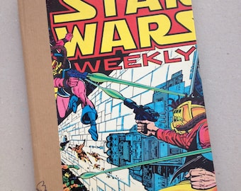 STAR WARS NOTEBOOK - hand bound notebook reused vintage Star Wars comic, Fathers Day Gift, vintage comic, vintage gift, brother gift