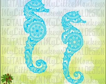 Seahorse SVG ~ Seahorse Mandala ~ Seahorse Shirt ~ Seahorse Mandala SVG ~ Mandala Svg ~ Commercial Use SVG ~ Cut File ~ Clipart eps dxf png