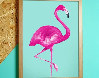 Flamingo Print - Pastel Collection - In A4 or A3 - flamingo prints - flamingo wall art - flamingo wall art - flamingo gifts - flamingo decor