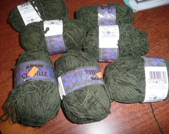 9 Patons Super Chenille Yarn Skeins