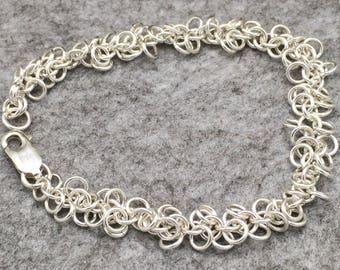 Sterling Silver Shaggy Hoop Bracelet Hallmarked