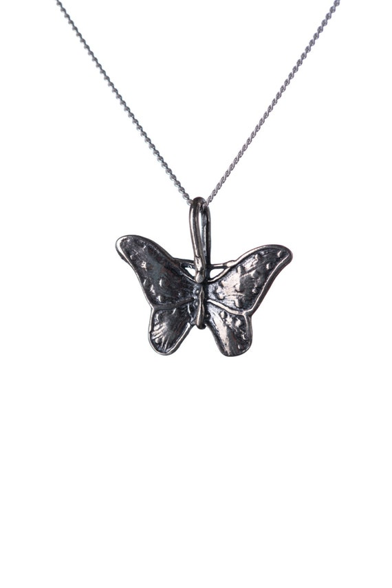 Sterling Silver Dainty Butterfly Pendant Necklace Handmade Free UK delivery Gift box and Gift bag included