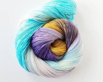 Atlantis  hand painted indie yarn