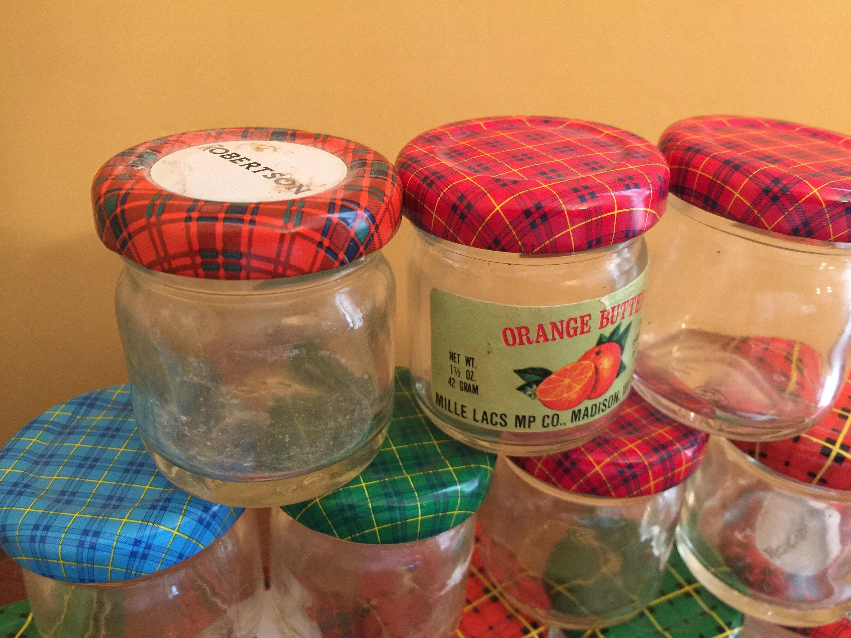 12 small vintage jam jars small jelly jars mini jam jars. Black Bedroom Furniture Sets. Home Design Ideas
