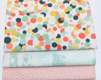 SALE!! 1/2 Yard Bundle Fancy and Fabulous by Fancy Pants Designs for Riley Blake Designs - 3 Fabrics