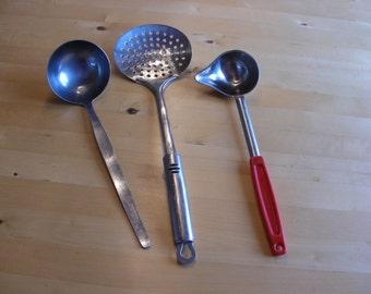 3 Vintage kitchen utensils