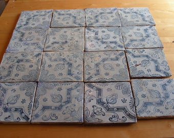 16 18th century Portuguese tiles