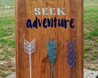 Seek Adventure arrow String Art