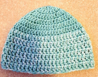 Child/Teen Blue and White Sparkle Beanie