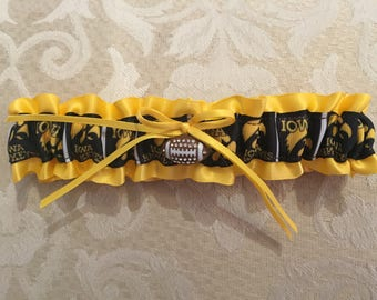 Iowa Hawkeyes wedding garter