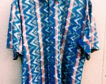 Vintage Zig Zag Collard Button Down Shirt