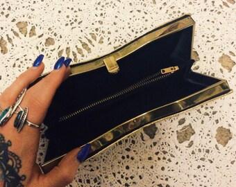 Vintage 60's Gold Hand Clutch