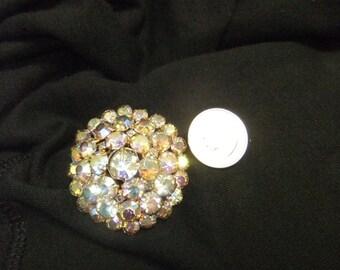 Iridescent Stones Brooch