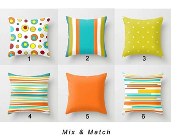 Outdoor Pillow Cover, Patio Pillow, Colorful Pillows, Striped Pillows,  Outdoor Cushions,