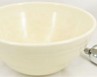 White Pottery Bowl, Small Mixing Bowl,  Old Lace White, Glazed Bowl, Batter Bowl