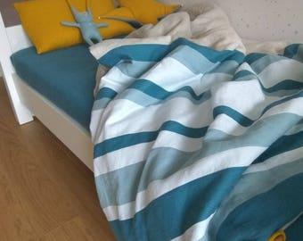 Children linen bedding - Handmade - Custom color - Linen duvet cover set