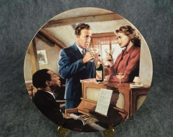 Edwin Knowles We'll Always Have Paris Casablanca Collectors Plate C. 1990