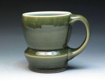 Nice Porcelain Mug, Signed by Artist, Hand Thrown Studio Pottery Porcelain Mug