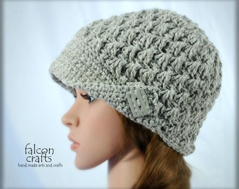 womans crochet beanie hat,aran wool mix,light buff,peak cap style,new wool,acrylic,up to 20 inches size, womans hat,lcrochet beanie hat.