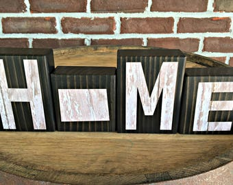 Colorado Home Blocks Rustic Wooden Letter Blocks Wooden Home Decor Housewarming Gift