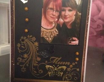 A5 personalised photo card, handmade, made to order, bespoke. Birthday