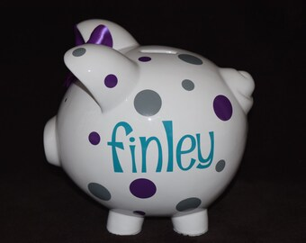 Piggy Q's Personalized Piggy Bank