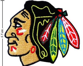 "Chicago Blackhawks 3"" Logo Embroidered Iron 1 Patch."