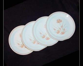 Corelle Peach Floral Vintage Dinner Plates Set of 4