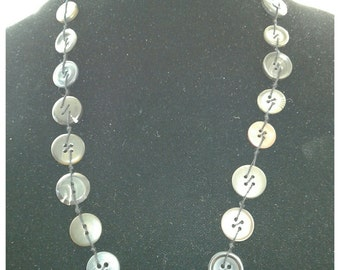 30% OFF ENTIRE PURCHASE Coupon Code (CBE30) Button Necklace