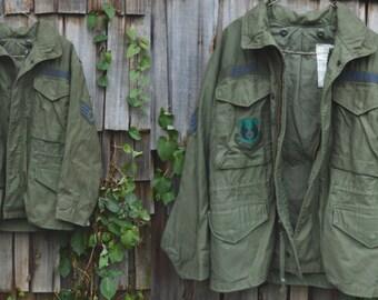 Vintage forest green military jacket | Vintage field jacket | Vintage air force jacket | Military Field coat