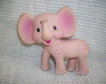 Infantino Elephant Squeak Toy Vintage Rubber Baby Toy