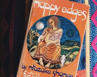 "Vintage ""Nappy Edges"" by Ntozake Shange hardcover book"