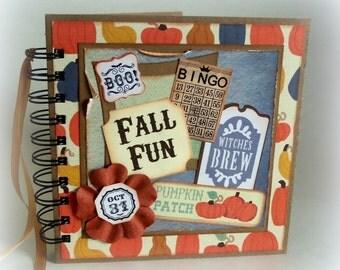 FALL FUN premade 6x6 scrapbook photo book memory album