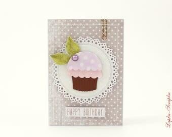 Greeting card, birthday card, birthday card, handmade card, 10.0 x 15.0 cm