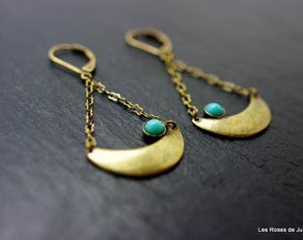 Earrings Moon art deco