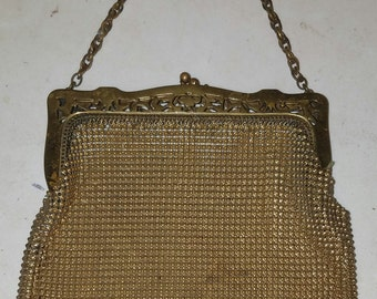 REDUCED.!!  1912 - 1915 Whiting & Davis Mesh Purse...  Possibly silver.
